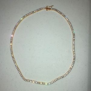 18 inch gold tennis necklace (The Gld Shop)